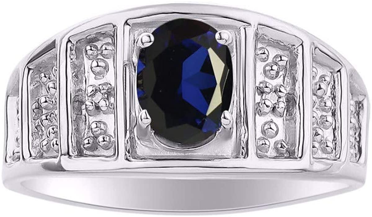 Simply Elegant Beautiful Blue Sapphire & Diamond Ring - September Birthstone