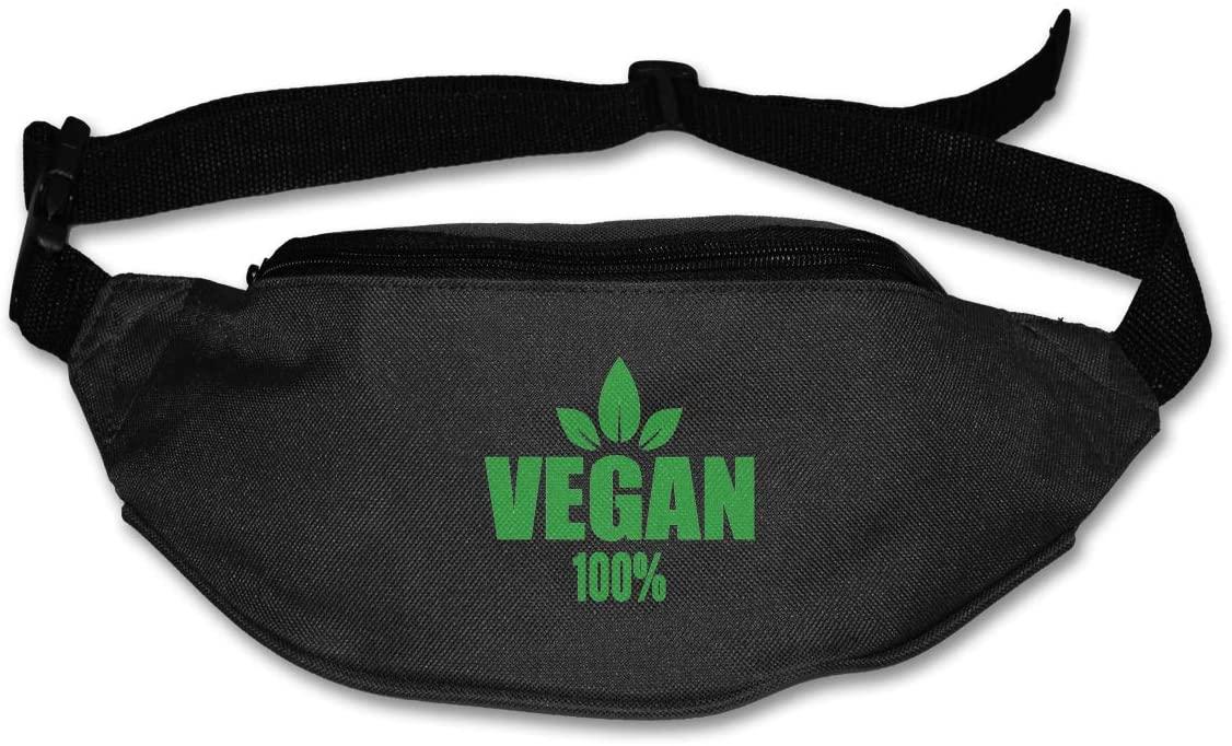 Vegan 100% Unisex Outdoors Fanny Pack Bag Belt Bag Sport Waist Pack