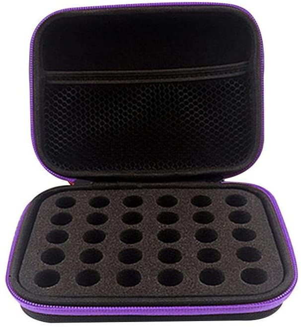 myonly Essential Oils Carrying Case Holds 30 Grids for 1-3ML Roller Bottles Essential Oils Bottle for Home, Travel, and Presentations