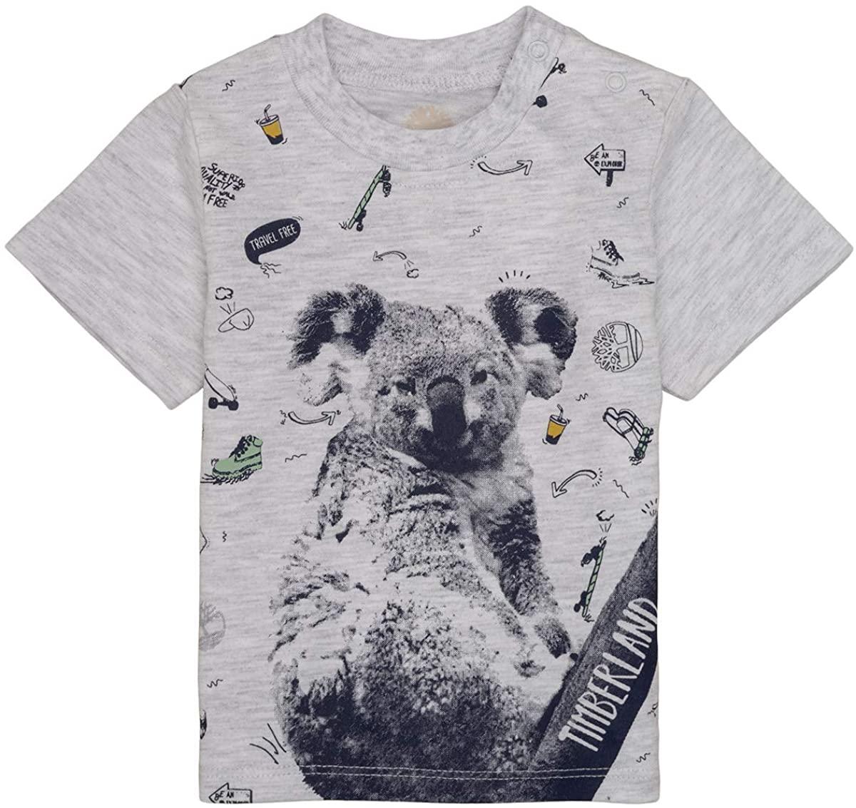 Timberland Marius T-Shirts & Polo Shirts Boys Grey - 6 Months - Short-Sleeved T-Shirts Shirt