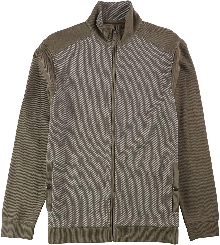Tasso Elba Mens Jacquard Textured Knit Jacket