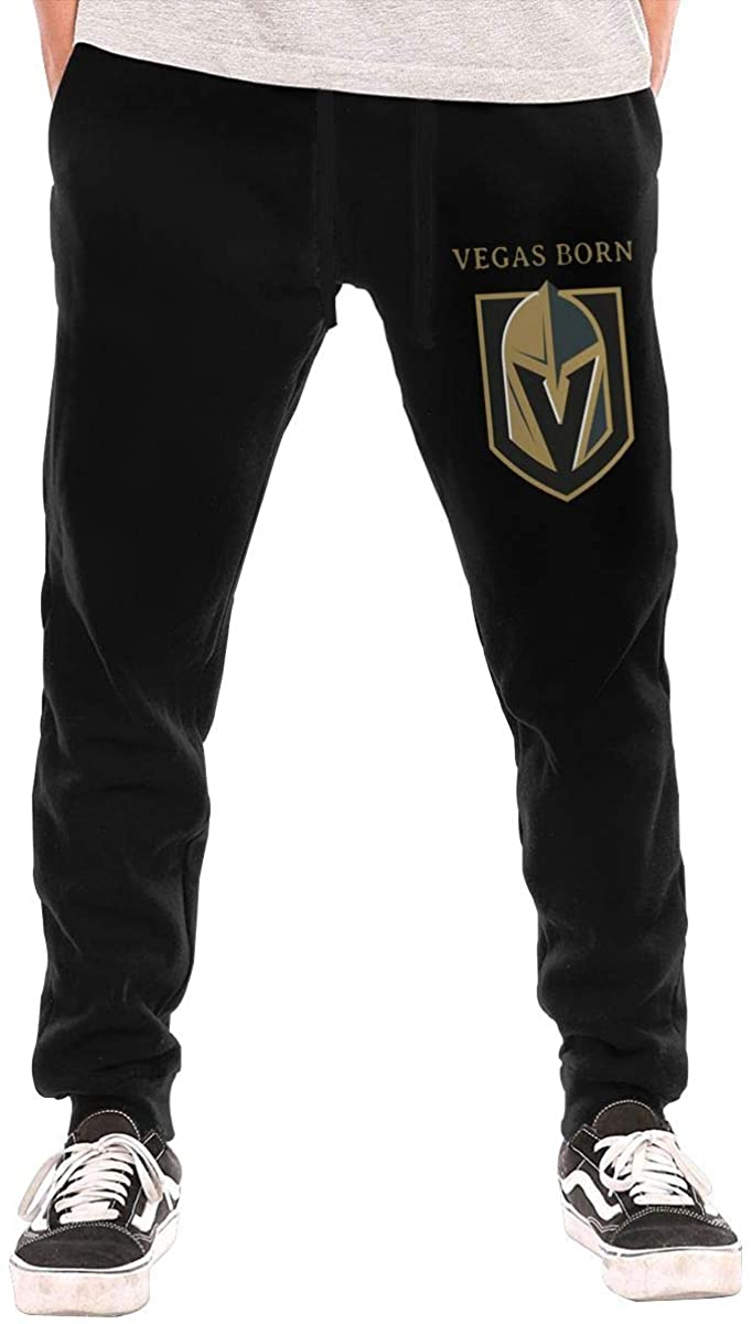 Men's Trousers Sweatpants Vegas Born Golden Knights Stylish and Elegant Style Black
