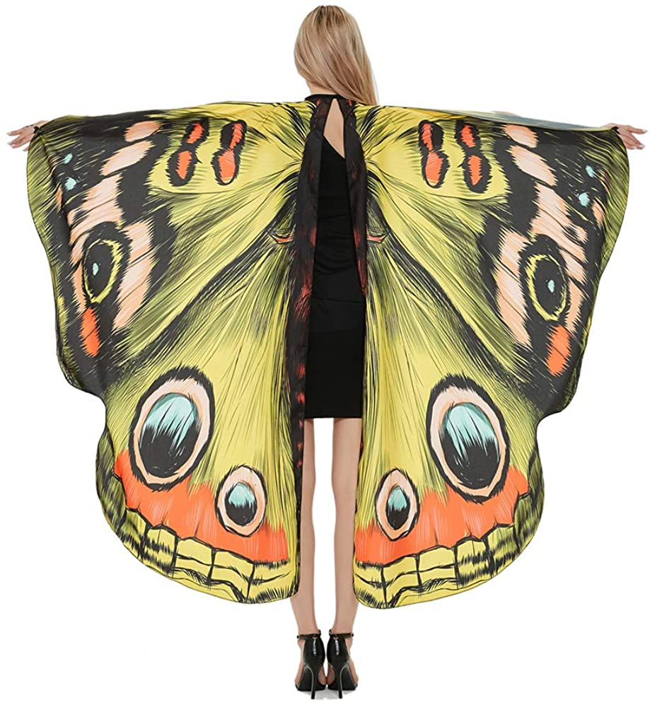 warmstraw Halloween Costumes for Womens Butterfly Cape Party Props Wings Costume Accessories