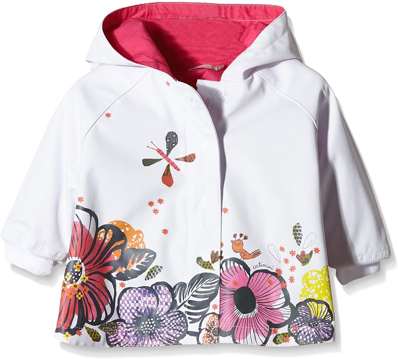 Catimini Little Girls Cheerful Rain Cape (Rain Coat) (18 Months) White