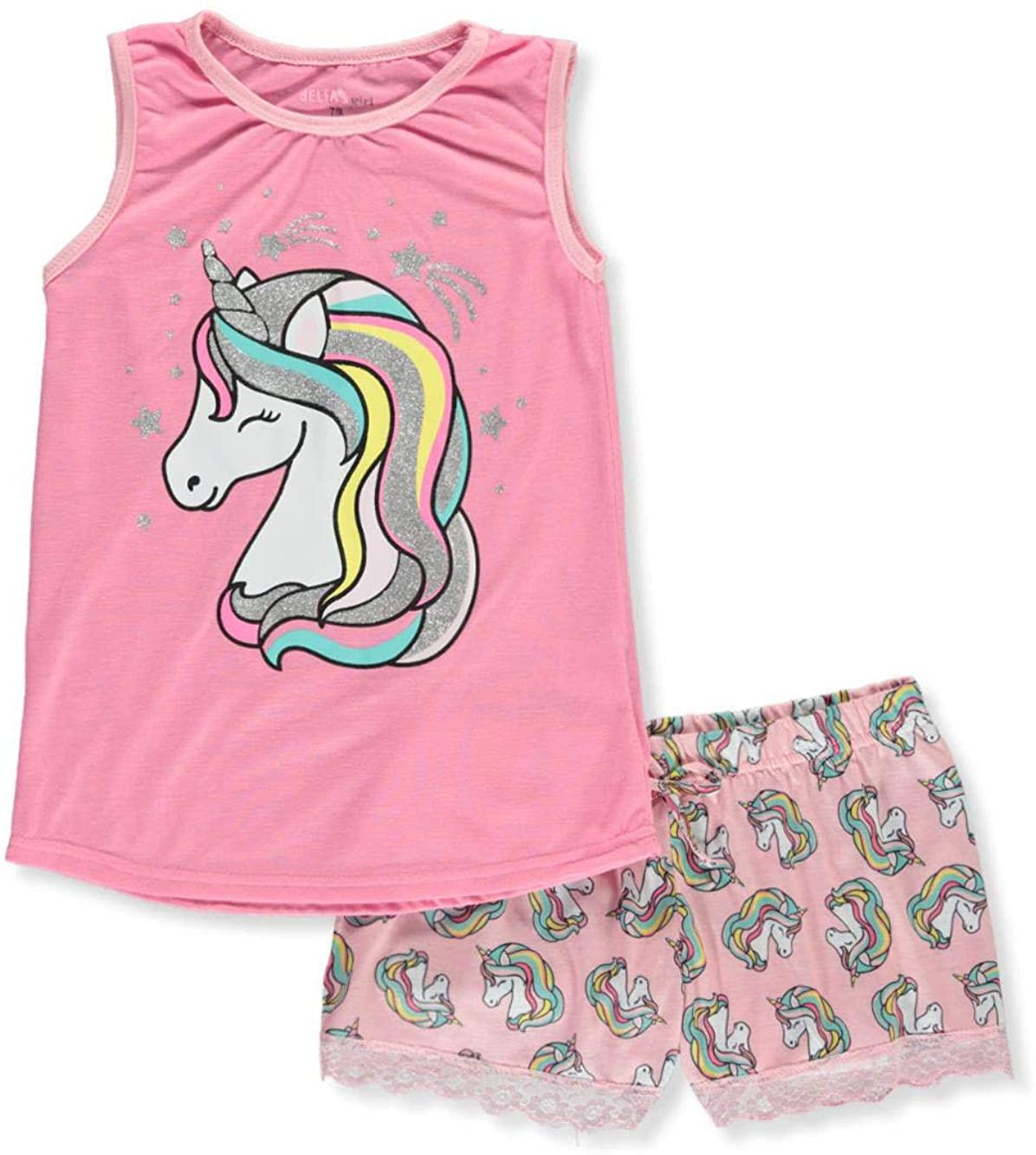 Delia's Girl' Unicorn 2-Piece Pajamas - Pink, 14-16
