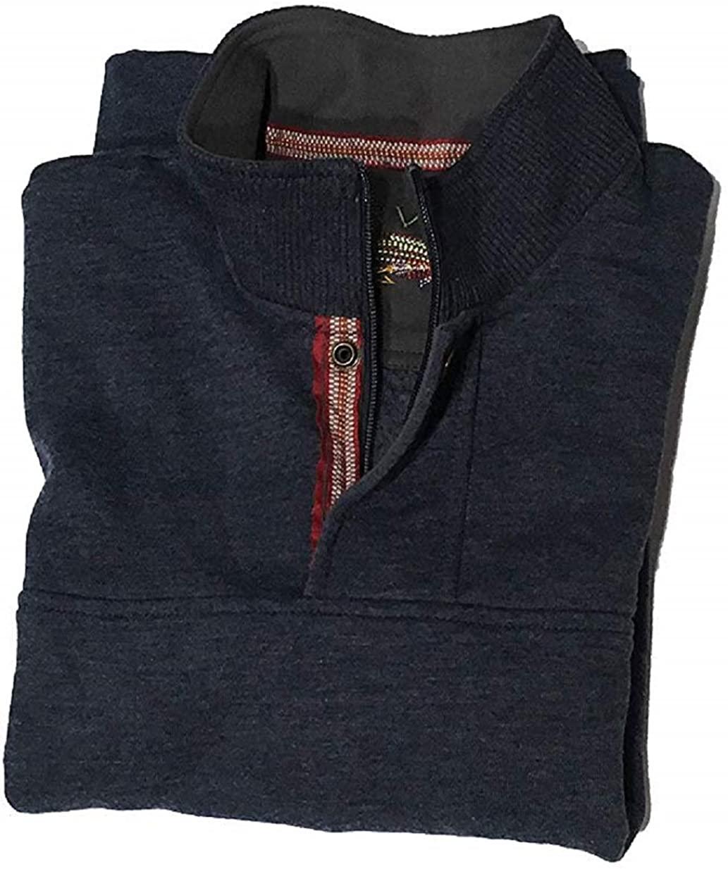 Orvis Men's Signature Fleece Pullover (Small, Heather Navy)