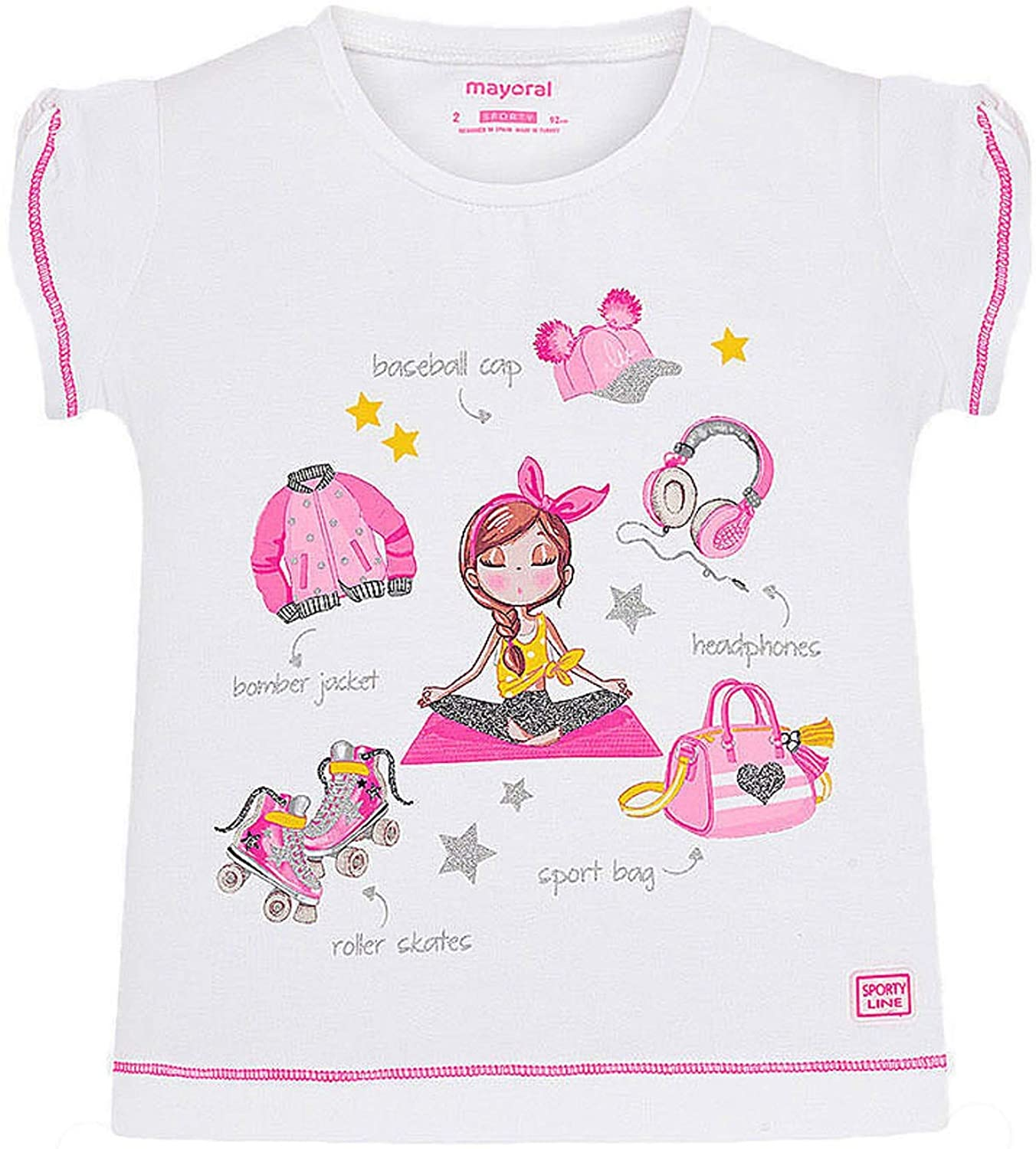 Mayoral - S/s t-Shirt for Girls - 3016, Bubblegum