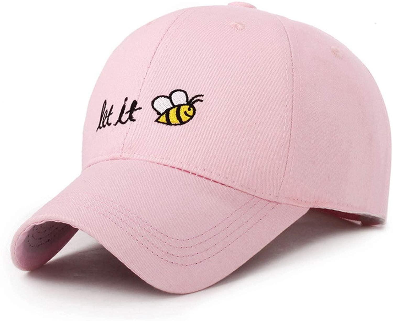 Cartoon Bee Baseball Cap Let It Cool Man Hat Summer Female Cartoon Sunhat Sunscreen Loves Baseball Hats