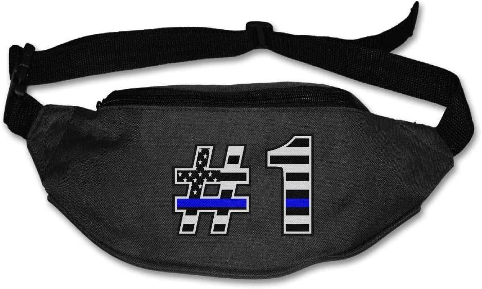 Eden Edies The Thin Blue Line Flag Number One Unisex Waist Pack Bag Belt