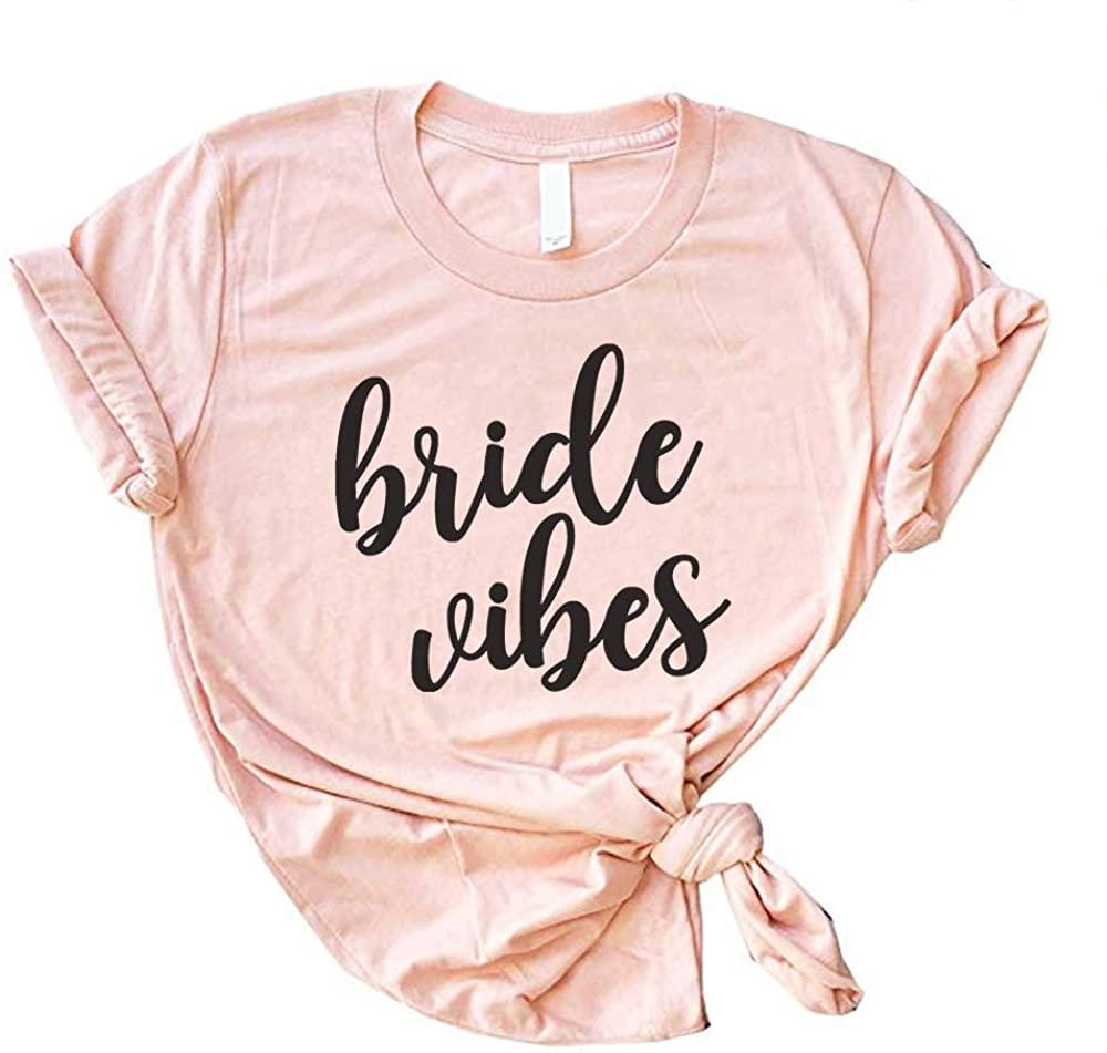 Bride Shirt Wifey Vibes t Shirts for Women tee just Married Honeymoon Tshirt Womens Wedding Wife Bridal Shower Gift Tank Top