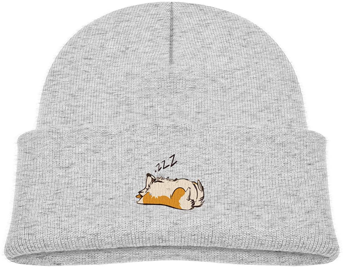 Lazzy Corgi Toddler's Hats Winter Knit Beanie Cap Skull Cap
