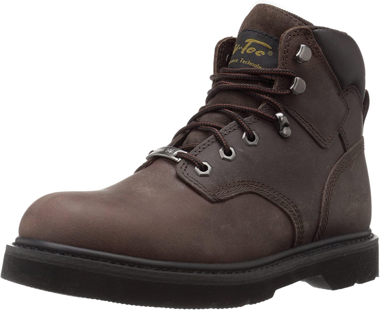 Ad Tec Men's 6-Inch Steel-Toe 9328 Work Boot (Brown, Numeric_10)