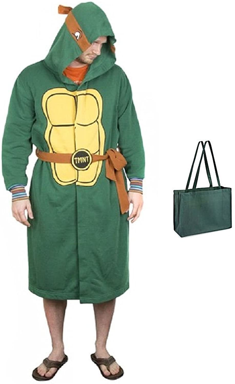 Teenage Mutant Ninja Turtles Mens' Hooded Robe with Belt and Bag 2 Piece Gift Set