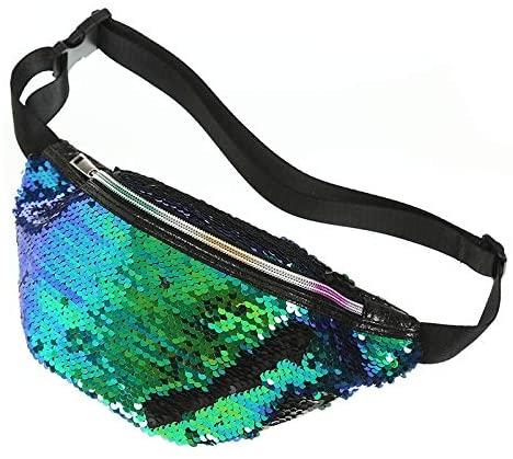 Fashion Women Waist Pack Mermaid Sequins Travel Money Phone Fanny Chest Bag For Girls Waist Pack