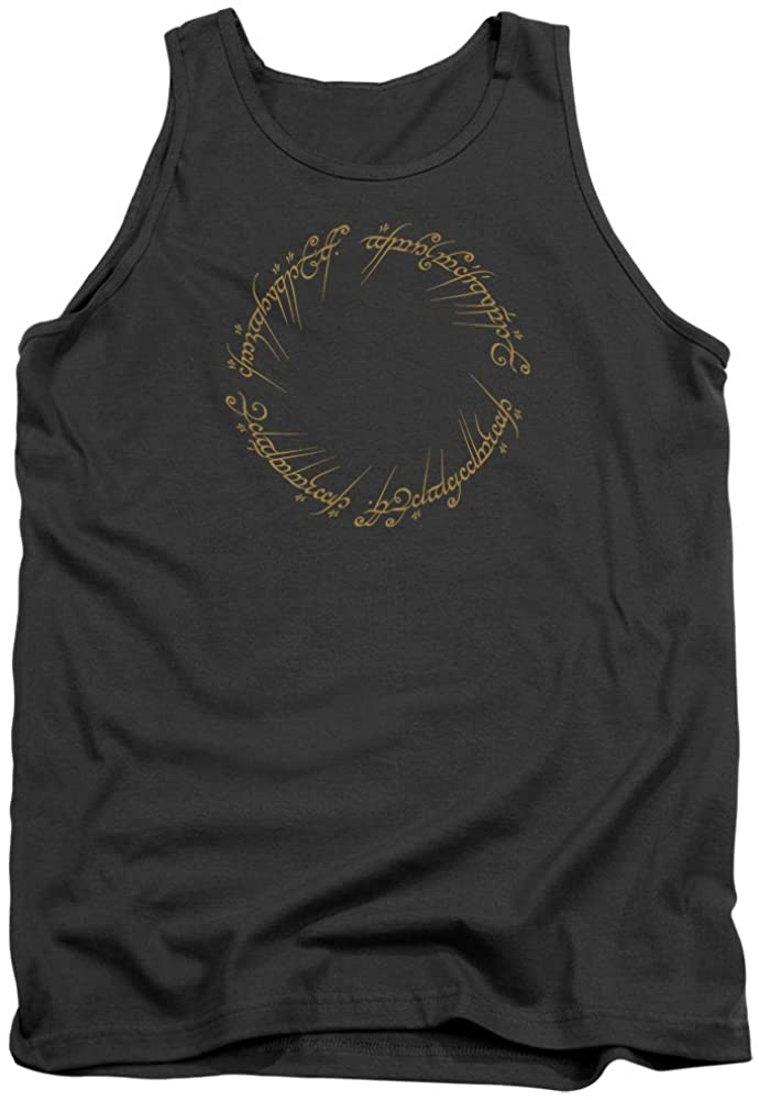 Tank Top: Lord Of The Rings- One Ring Inscription Size L