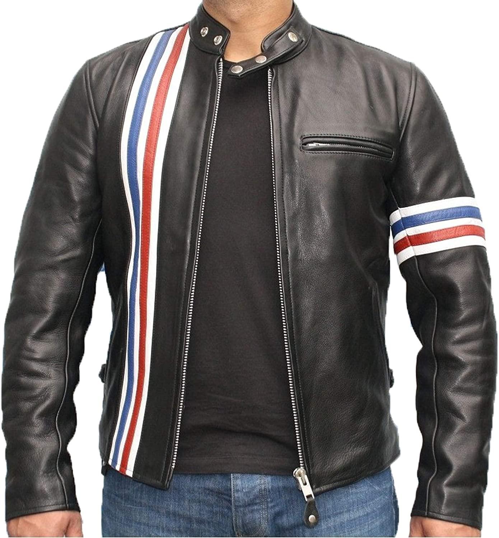 Mens Genuine Lambskin Leather Jacket MJ 109