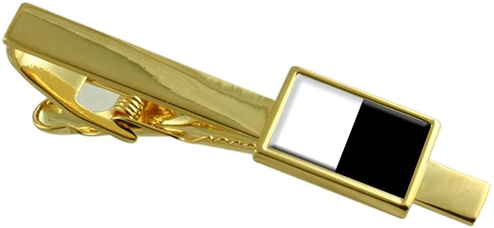 Metz City France Flag Gold-tone Tie Clip