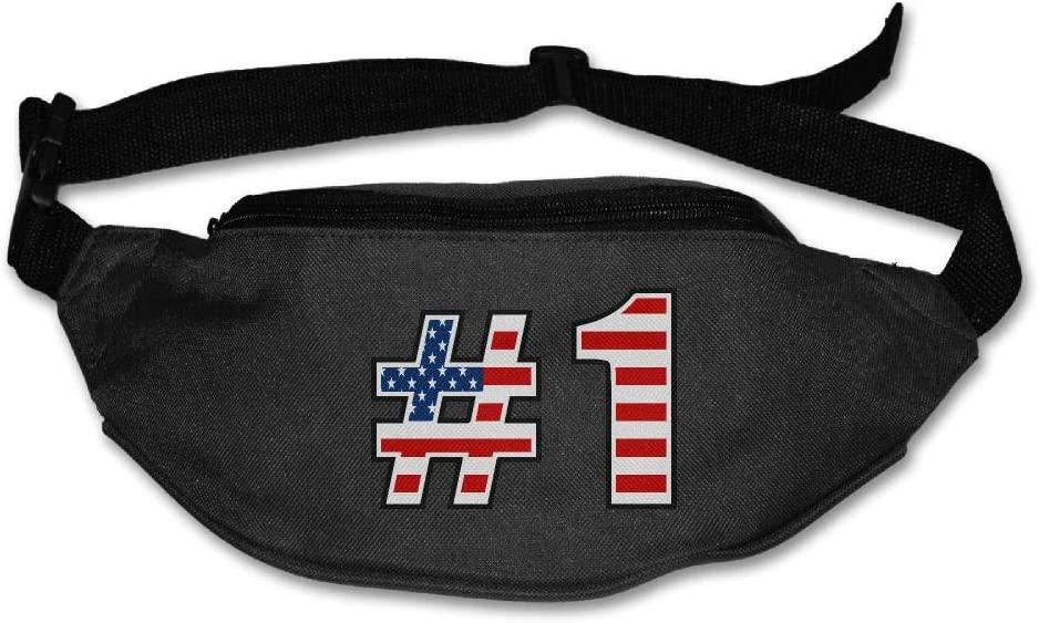 Eden Edies USA Flag with Number One Unisex Waist Pack Bag Belt