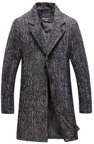 Nomber 3 Colors Medium-Long Woollen Overcoat for Men Autumn Winter Fashion Trench Male Jacket Coat Plus Size M-5XL 6XL