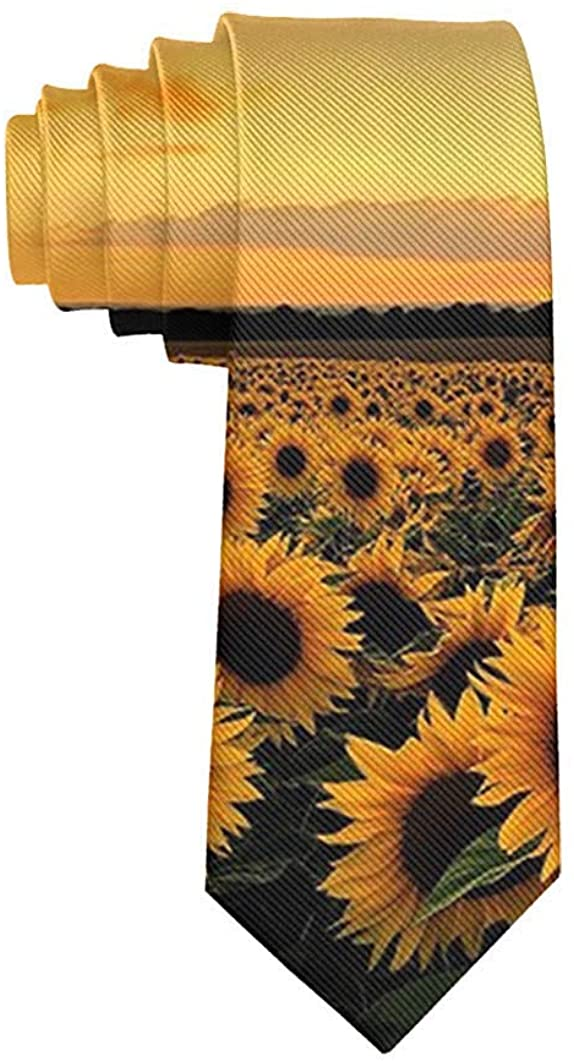 Men's Fashion tie Sunflowers Designs Necktie One Size Neck Tie