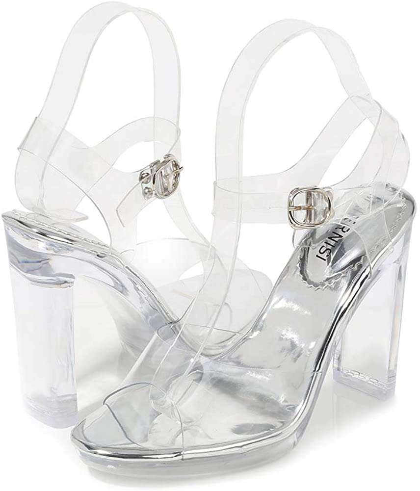 Transparent Sandals Womens Shoes High Heel Waterproof Platform