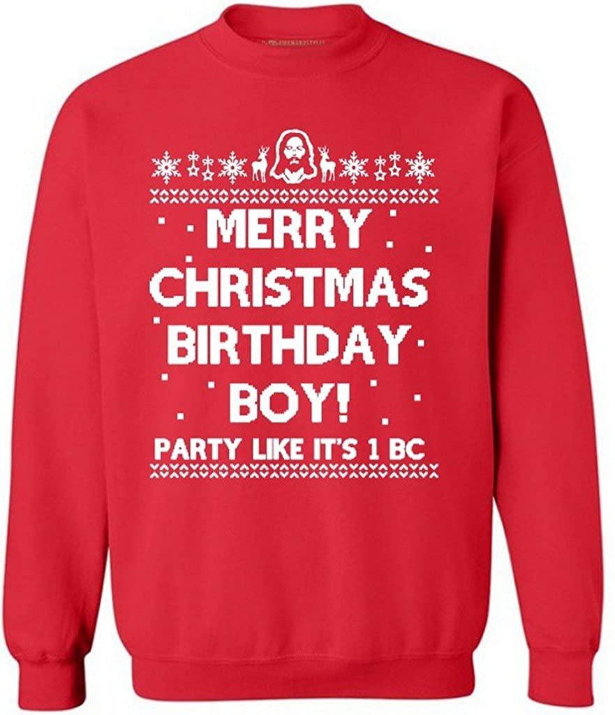 Awkward Styles Awkwardstyles Ugly Christmas Sweaters L Merry Christmas Birthday Boy
