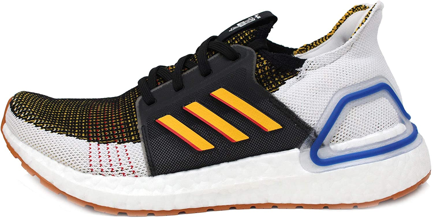 adidas Ultraboost 19 J (Grade School) in Black/Active Gold/Scarlet (Toy Story-Woody), 5.5