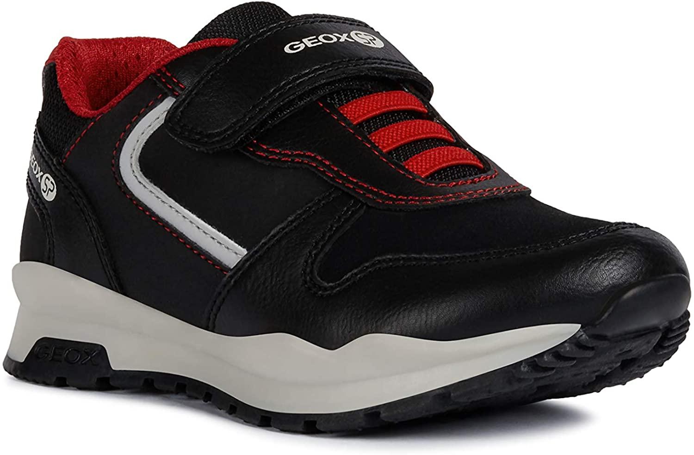 Geox Boys CORIDAN 10 Sneaker Elastic Laces Strap, Black Red
