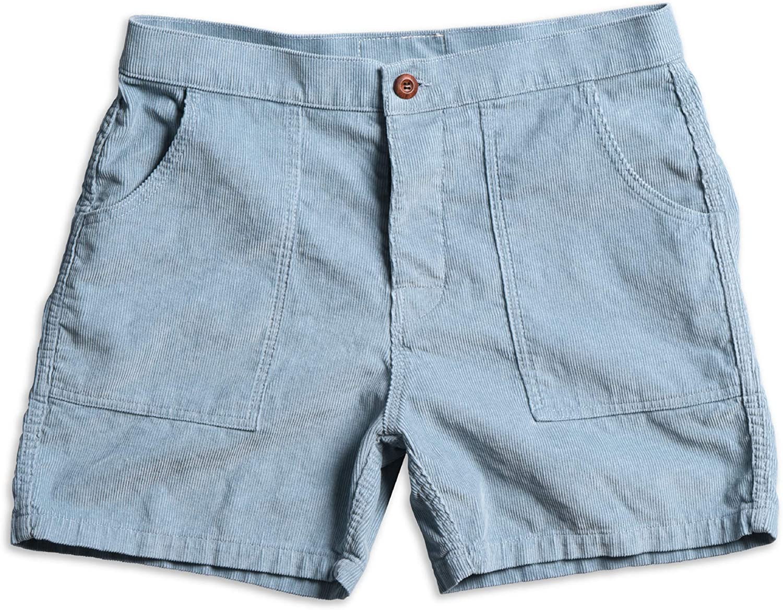 Birdwell Men's Classic Cotton Corduroy Shorts (Light Blue, 42)