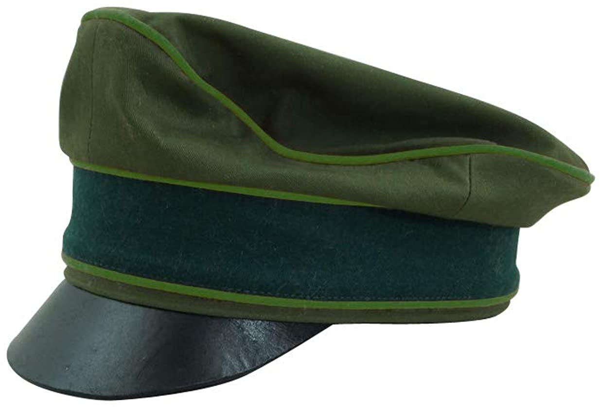 WW2 German Afrikakorps Heer Panzergrenadier cotton crusher visor cap