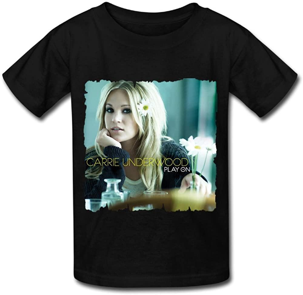 IYI 2016 Child's Carrie Underwood Poster Fashion T Shirt Black
