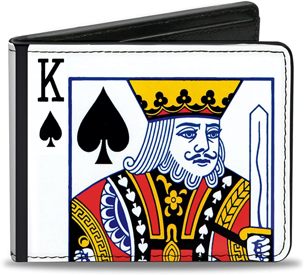 Buckle-Down PU Bifold Wallet - King of Spades