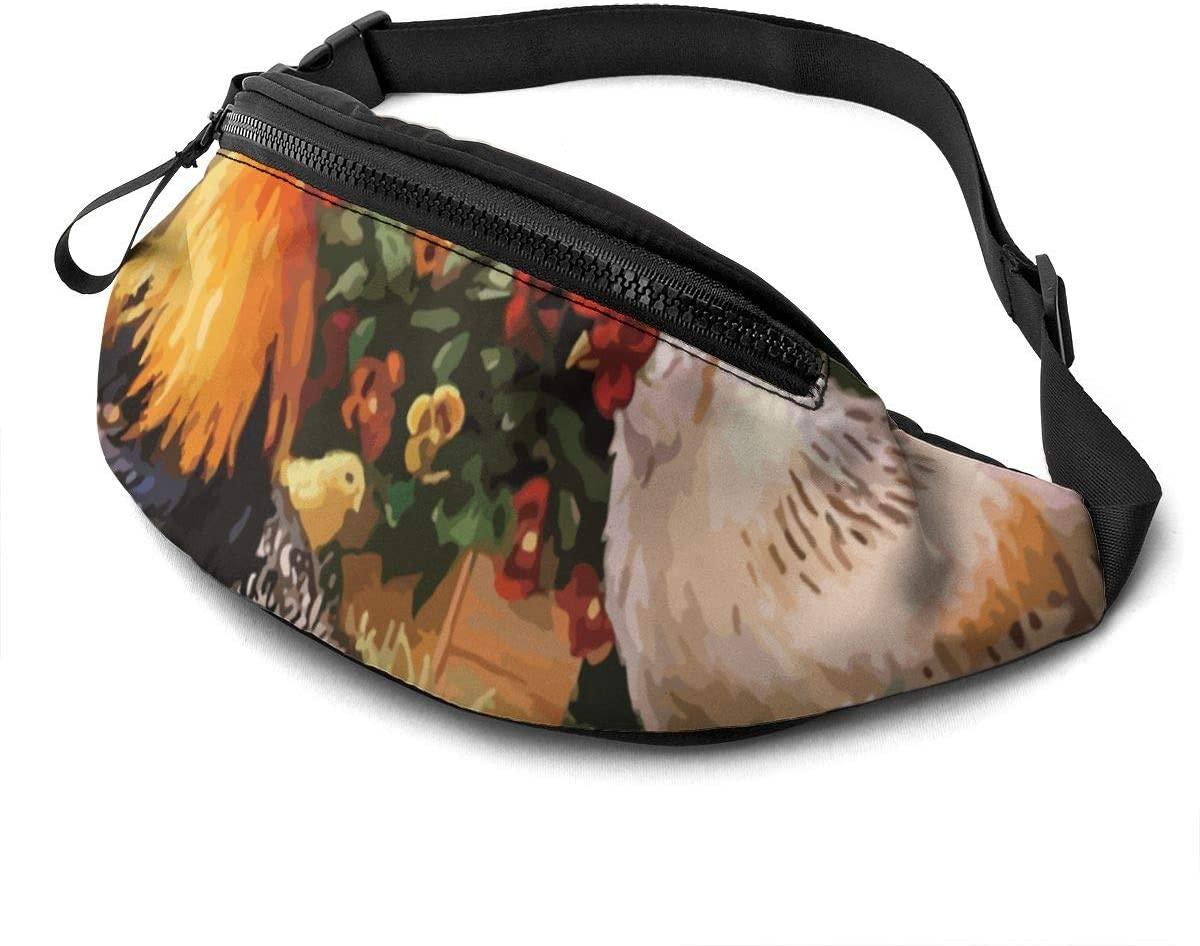 Chicken Garden Fashion Casual Waist Bag Fanny Pack Travel Bum Bags Running Pocket For Men Women
