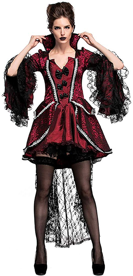Women Halloween Carnival Vampire Countess European Aristocratic Court Costumes