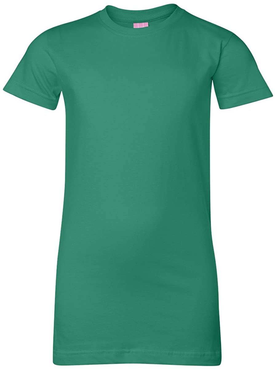 Lat Juniors Jersey Longer Length T-Shirt (Forest) (M)