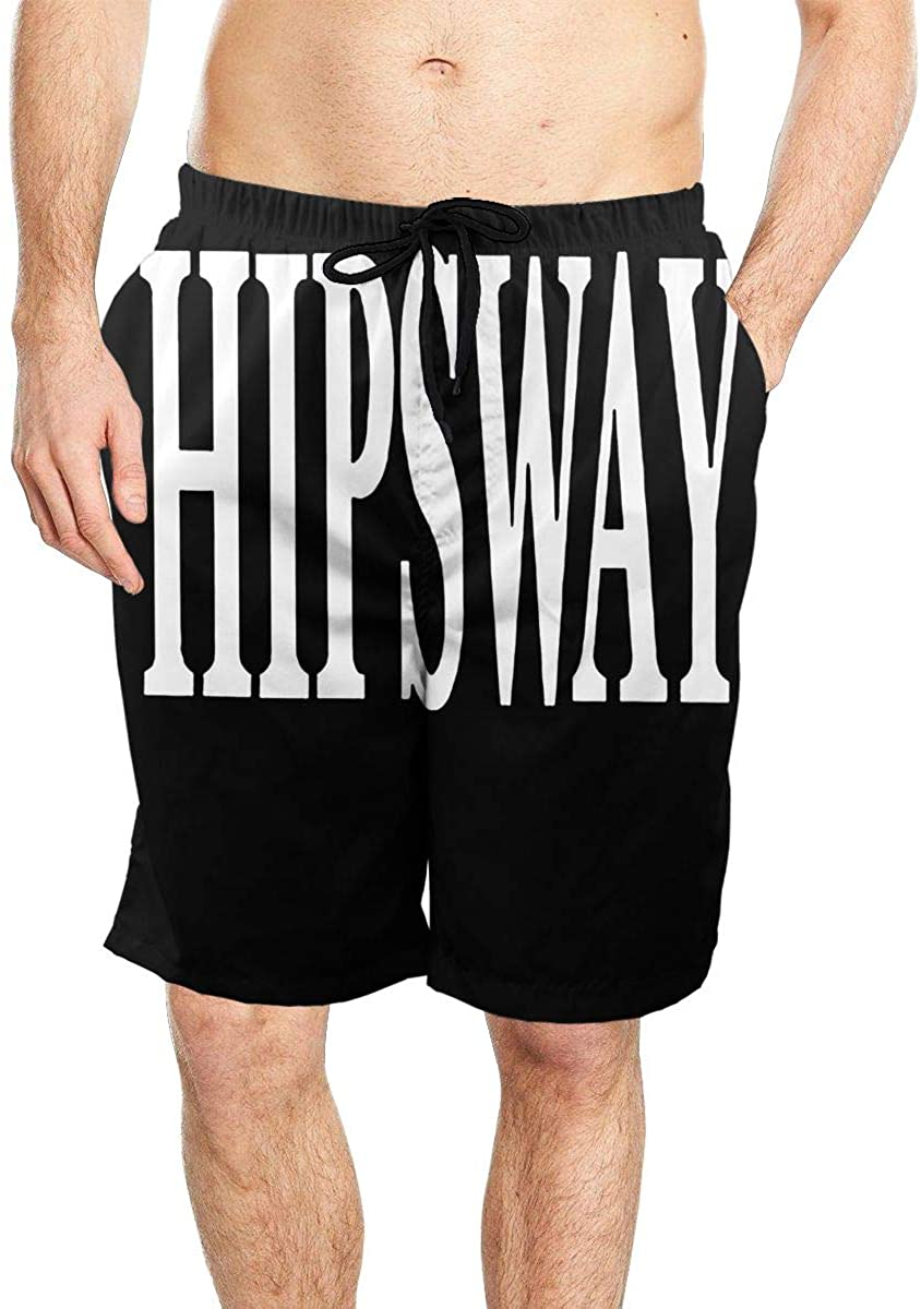 TZT Hipsway Cool Men's Beach Shorts Quick-Drying Swimming Shorts with Pockets