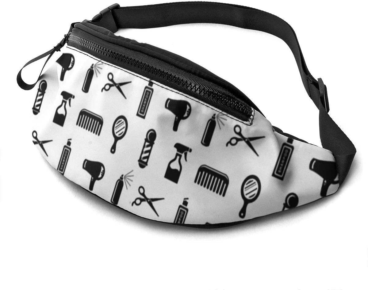 Salon & Barber Hairdresser Fanny Pack For Men Women Waist Pack Bag With Headphone Jack And Zipper Pockets Adjustable Straps