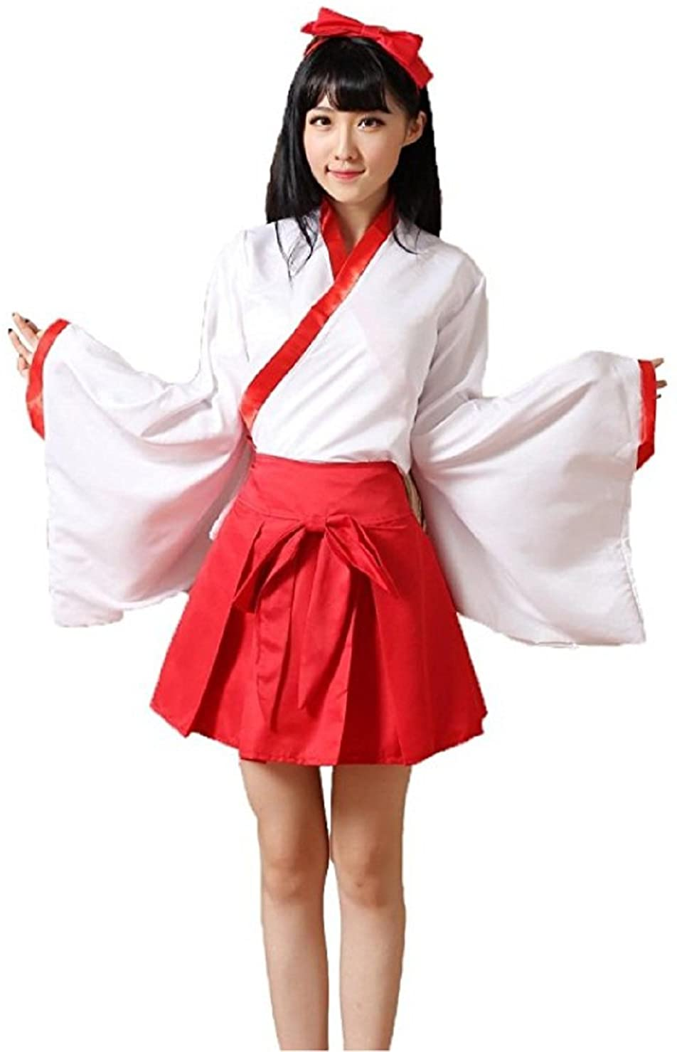 Peachi S007 Popular Anime Kikyo Cosplay Tokyo Halloween Cosplay Japan Miko Costume One Size