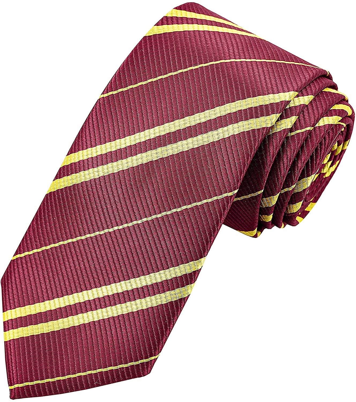 Cosplay Tie for Harry Halloween Birthday Party Costume Necktie Harry Tie Accessory Red Tie Adult for Harry