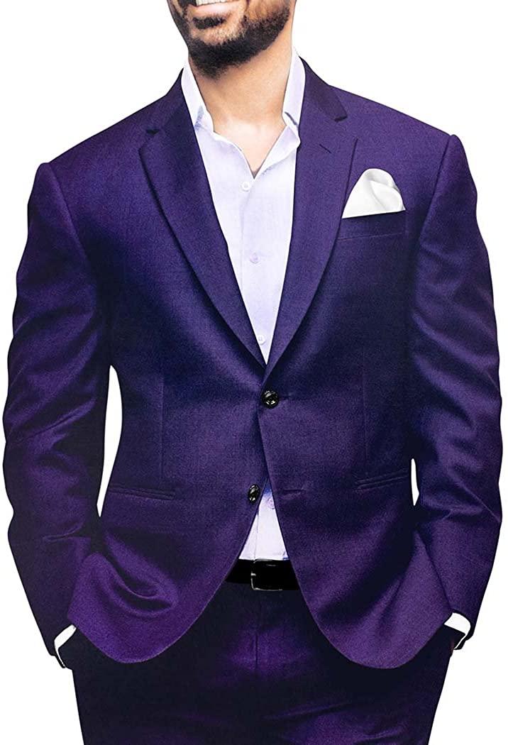 INMONARCH Mens Regency Polyester 4 Pc Tuxedo Suit Notch Lapel TX1110