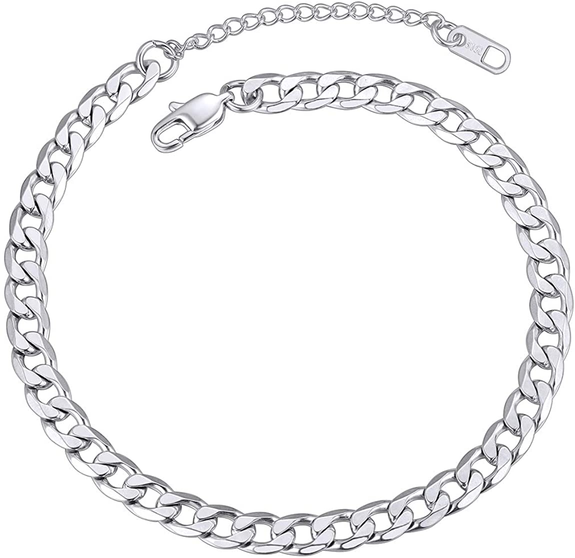 ChainsPro Resizable Anklet Chain for Women Men, Figaro/Wheat/Twist Rope/Cuban Foot Bracelet-Strong with Good Clasp-18K Gold Plated(Send Gift Box)