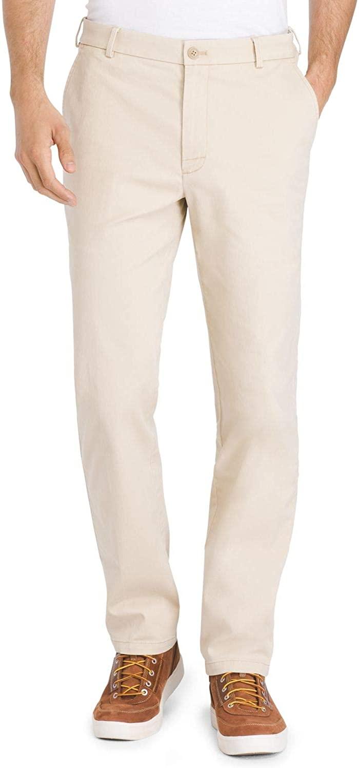 IZOD Men's Performance Stretch Saltwater Fresh Straight Chino Pant, Pale Khaki