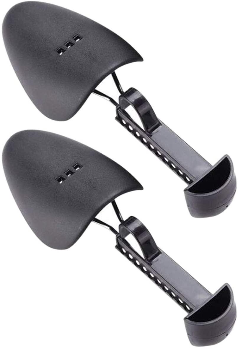 Shoe Stretcher, Plastic Adjustable Boot Holder Shaper Keeper for Women Men, 1Pair (Black)