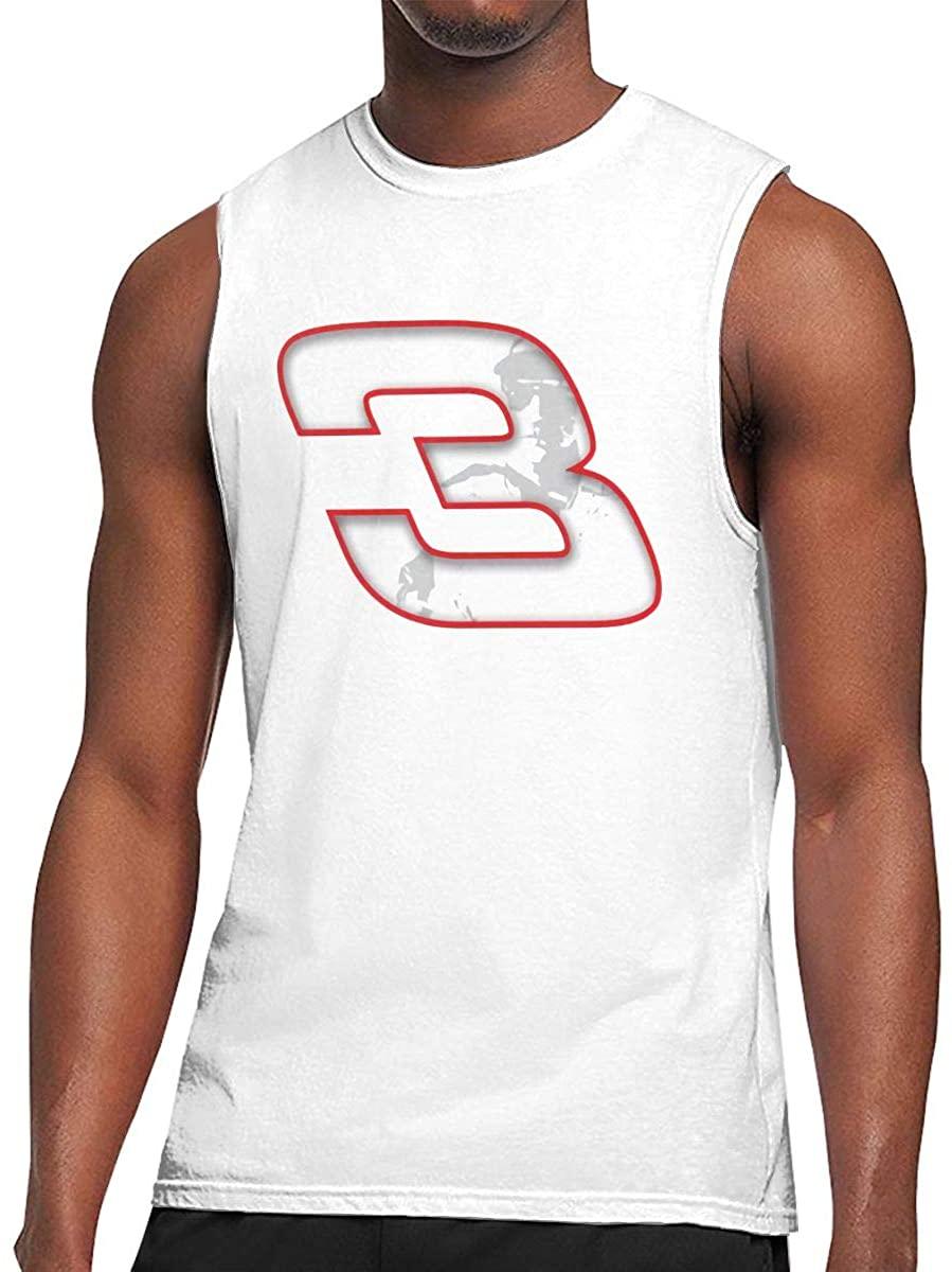 N/D Dale Earnhardt Race Funny Men's Summer Casual Sleeveless Vest Vest Sports T-Shirt White