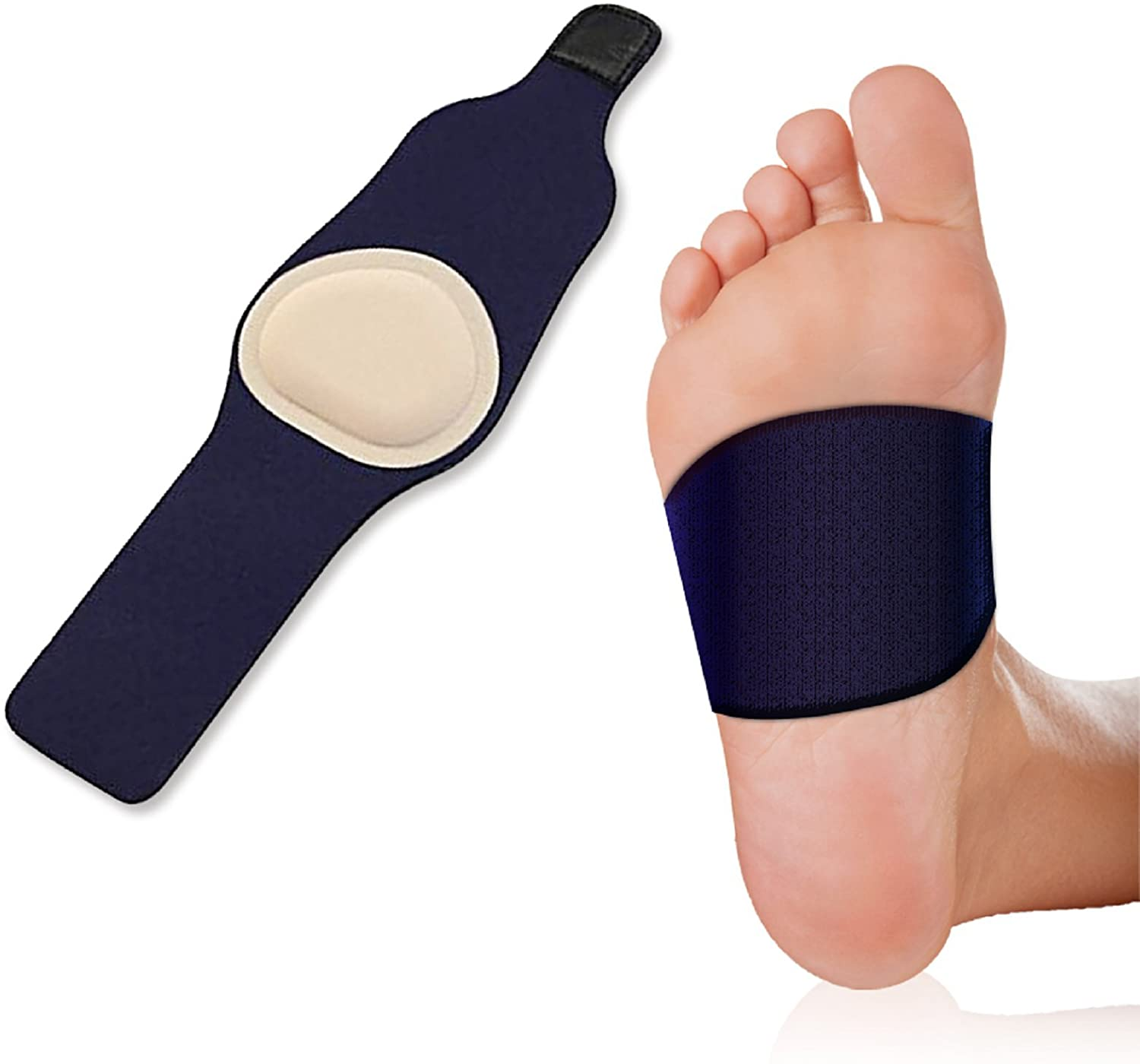 Plantar Fasciitis Arch Support Foot Pain Sleeve – Soft Gel Padding for Flat Feet and Plantar Fasciitis Pain Relief (1 Pair)