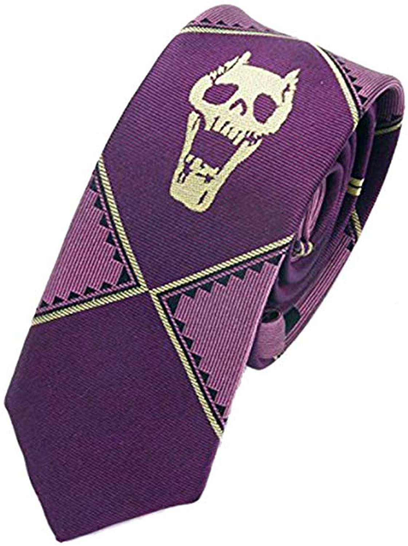 Anime Costume JoJos Bizarre Adventure Kira Yoshikage Cosplay Slim Tie - Purple