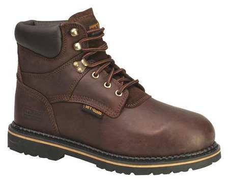 Work Boots, Steel Toe, MetGrd, 9M, PR