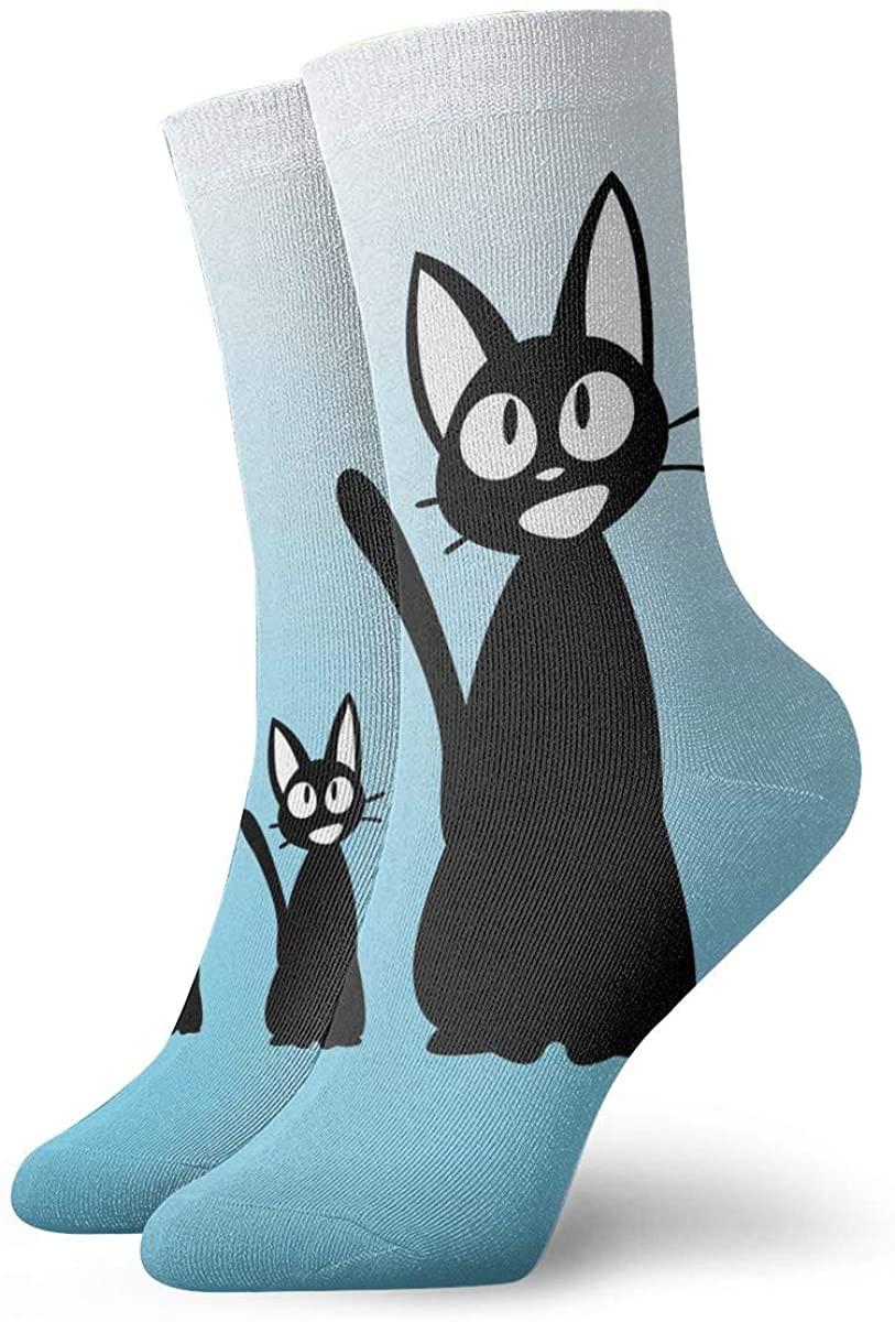 Kiki'S-Delivery-Service-Flying-Jiji Magic Gathering Socks, High Ankle Socks Halloween Socks