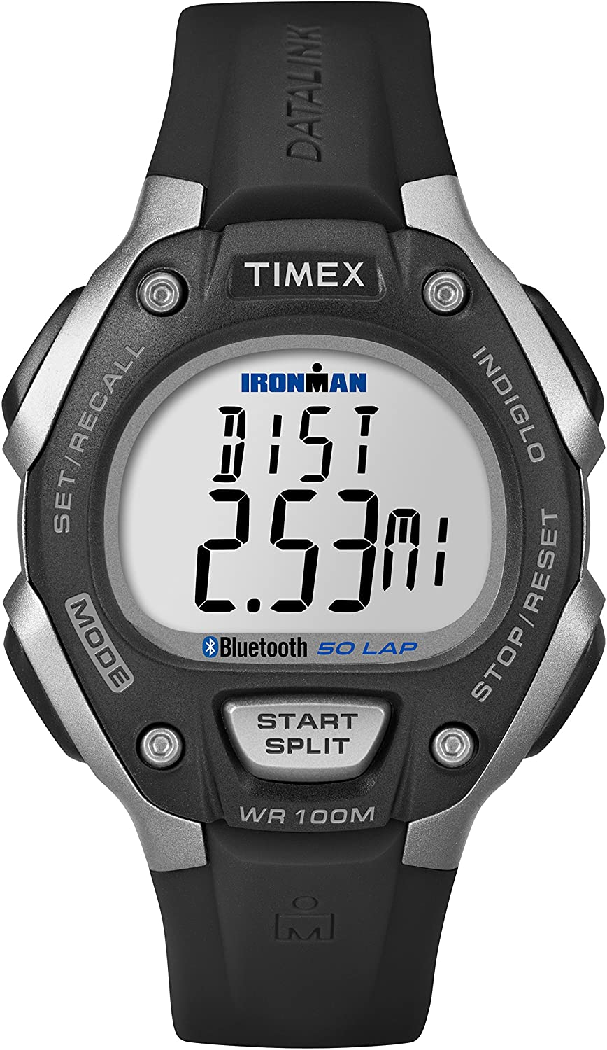 Timex Unisex TW5K86300F5 Ironman Classic 50 Move + Watch with Black Resin Band