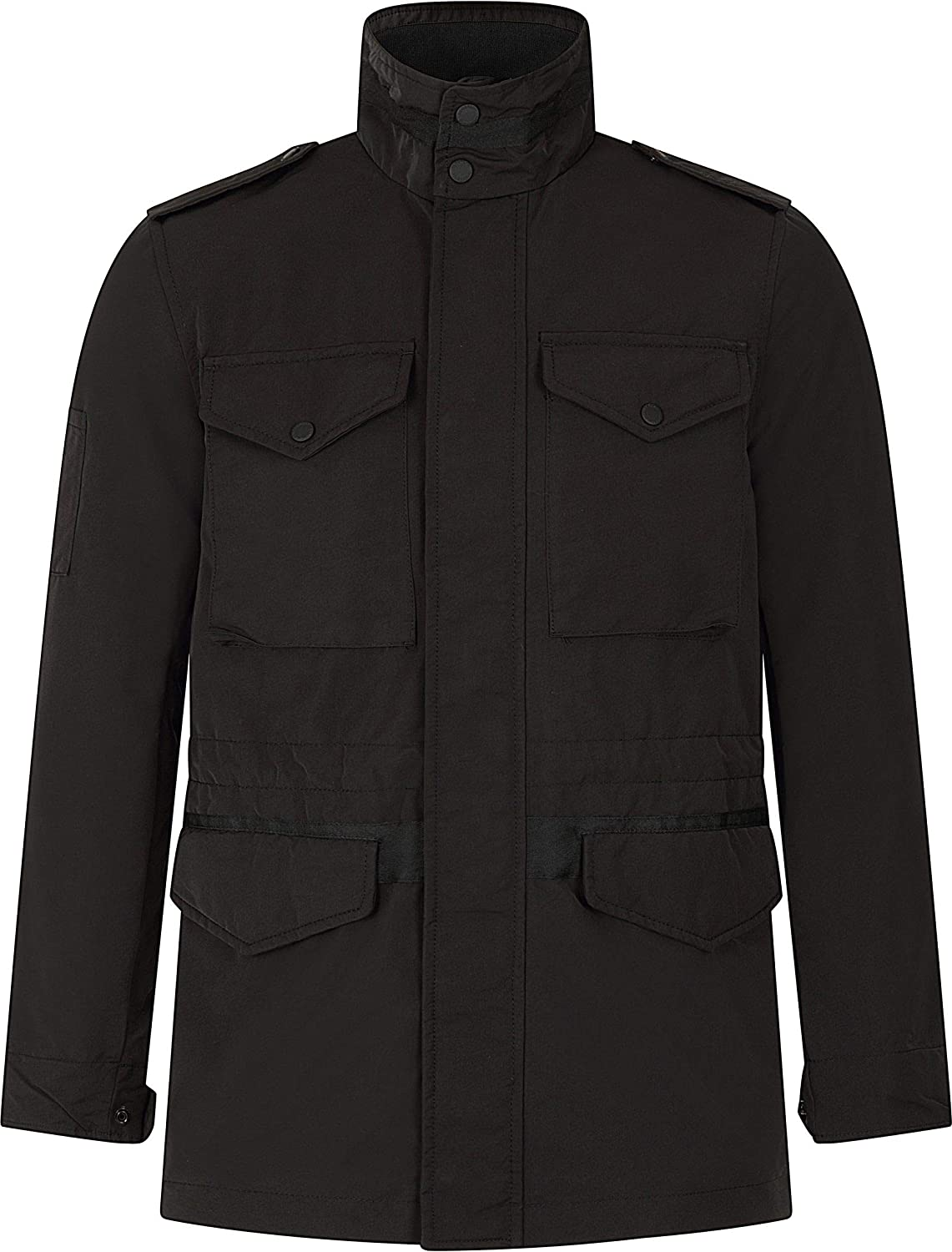 Superdry Men's Edit Collared Utility Four Pocket Jacket, Black